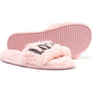 NWT PJ Salvage LOVE slippers size L